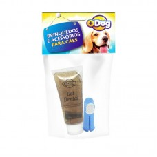 20263 - KIT GEL DENTAL MAIS DOG CHOCO C/DEDEIRA