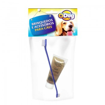 KIT GEL DENTAL MAIS DOG CHOCO C/ESCOVA