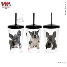 24623 - COPO PET 600ML BULLDOG FRANCES