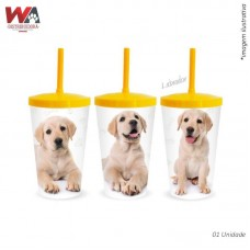 24624 - COPO PET 600ML LABRADOR
