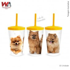 24628 - COPO PET 600ML LULU POMERANIA