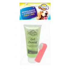 19229 - KIT GEL DENTAL MAIS DOG MENTA C/DEDEIRA